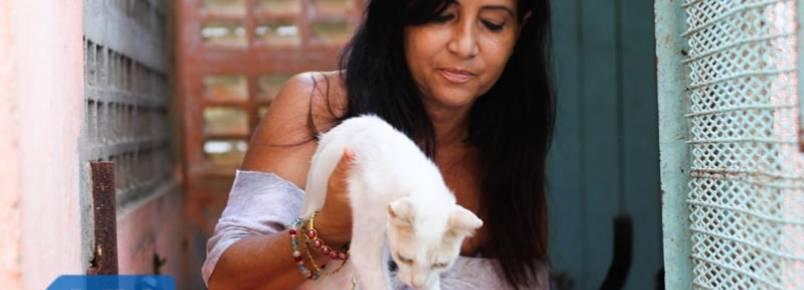 Baiana cuida de mais de 200 animais abandonados na própria casa