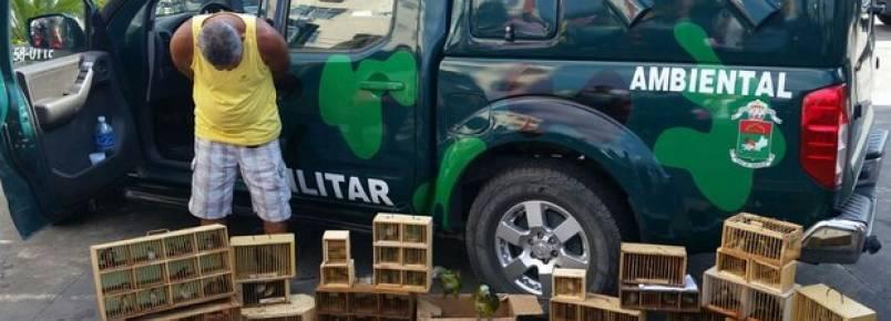 Polícia apreende animais e detém sete pessoas na Feira de Caxias, na Baixada