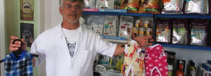 Dr. Hélio, da Bichos e Plantas, tem mais roupinhas Baby Pet Wear