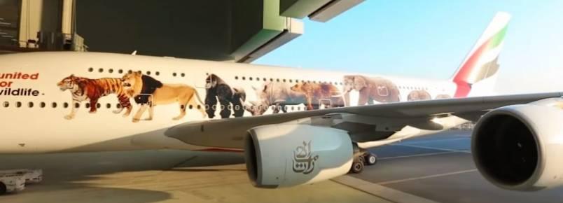 Emirates apoia ação em defesa de animais em extinção