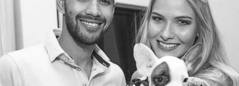 Gusttavo Lima dá cãozinho de presente para a noiva: