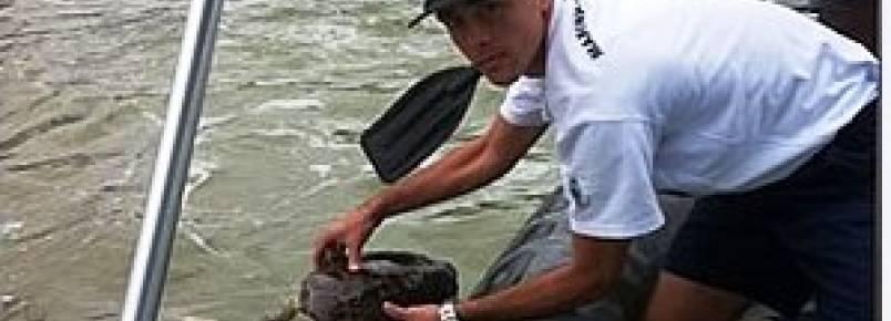 Marinha apoia ação ambiental de resgate de tartarugas