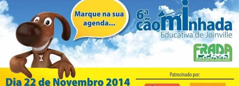 ONG realiza cãominhada educativa em Joinville (SC)