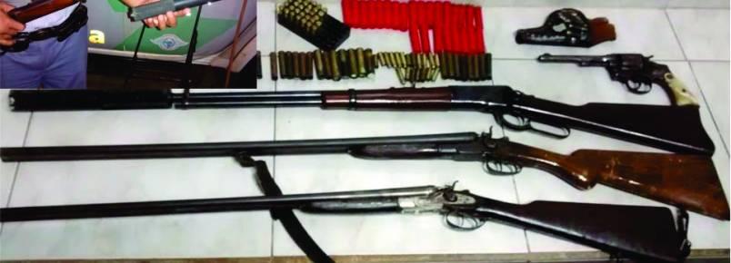 Caçador é preso pela Polícia Ambiental com arsenal em casa