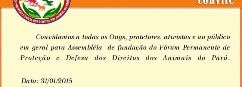 Grupo realiza fórum pela proteção e defesa animal no Pará