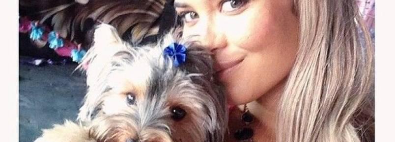 Geisy posa com cachorrinho: Mamãe ama demais