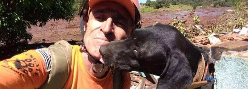 A história do cão 'Resgate', que foi achado no lixo e ajuda em Brumadinho